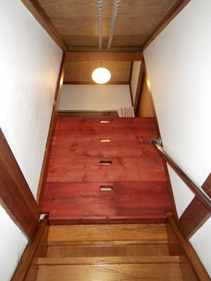 品川区の建具屋太明,施工例,転落防止柵,木製ドア