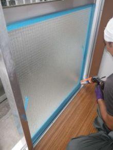 品川区の建具屋太明,施工例,ワイヤーガラス修理,ガラス修理,サビ割れ