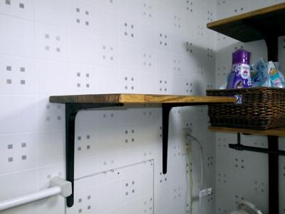 品川区の建具屋太明,施工例,脱衣所に棚板設置,脱衣所収納,収納棚