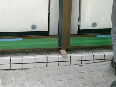 品川区の建具屋太明,施工例,コインランドリー 店舗,入り口工事,サッシ取り替え,ガラス取り替え