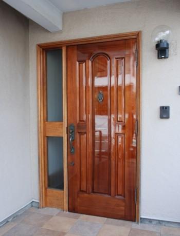 品川区の建具屋太明,玄関ドア,再塗装