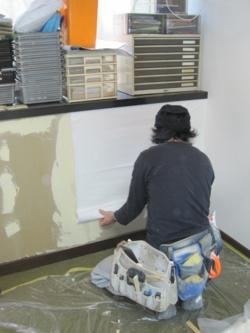 品川区の建具屋太明,壁紙貼り替え,壁紙,貼替,タバコのヤニ