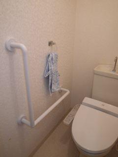 品川区の建具屋太明,手すり,手すり取り付け,階段,トイレ