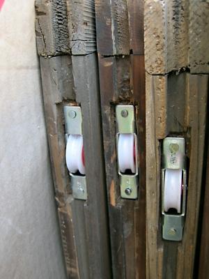 品川区の建具屋太明,施工例,木製ガラス戸,木製ガラス戸動き調整