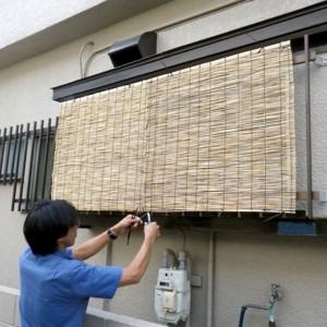 品川区の建具屋太明,施工例,日差し対策,すだれ取付,簾