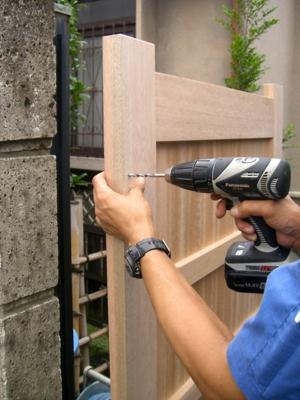 品川区の建具屋太明,施工例,木戸の補修,木戸の修理