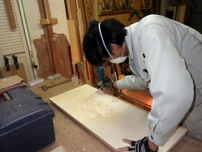 品川区の建具屋太明,施工例,下駄箱の修理,下駄箱の補修