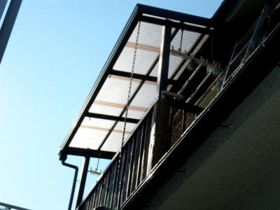 品川区の建具屋太明,施工例,バルコニー工事,波板交換