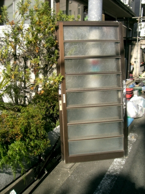 品川区の建具屋太明,施工例,玄関ドア交換,玄関ドア引戸