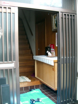 品川区の建具屋太明,施工例,玄関ドア交換,木製ドア,アルミドア