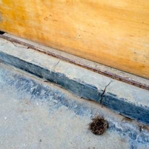 品川区の建具屋太明,施工例,玄関敷居の補修