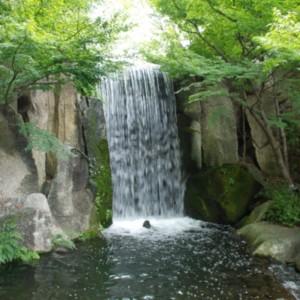 徳川園の龍門の瀧 たいめいる2013年8月号