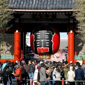 浅草寺雷門の大提灯 たいめいる2014年2月号