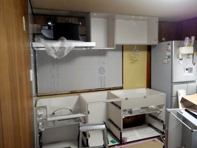 品川区の建具屋太明,施工例,キッチンリフォーム,システムキッチン