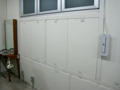 品川区の建具屋太明,施工例,美容院,店舗,ボード設置