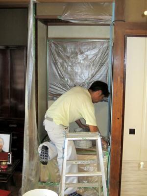 品川区の建具屋太明,施工例,リフォーム,床の間,壁の塗り直し