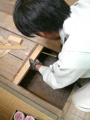 品川区の建具屋太明,施工例,リフォーム,床,床の補修